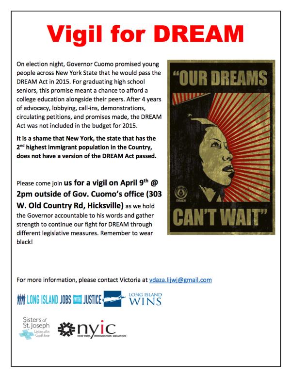 DREAM Act Vigil 4.9.15