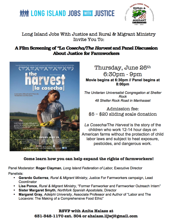 La Cosecha The Harvest Film Flyer