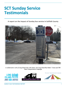 Sunday Bus Service Report Cover