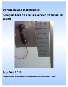 Unreliable and Inaccessible Report Cover